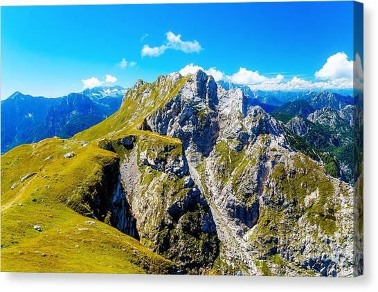 Mountain Climbing Canvas Print - Beautiful Alps Landscape. Beautiful by Jozef Klopacka