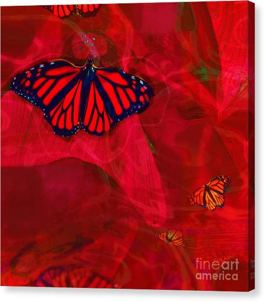 Beautiful And Fragile In Red Canvas Print