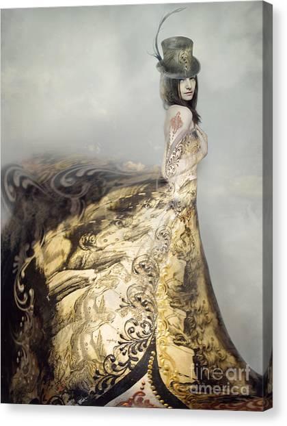 Dress Canvas Print - Beautiful Artistic Portrait Of An by Valentina Photos