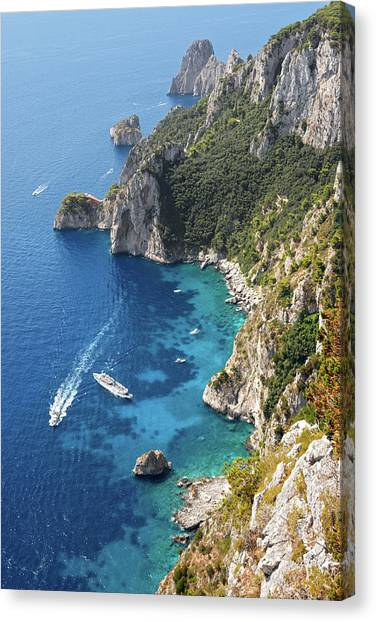 Beautiful Capris Sea Canvas Print by Pierpaolo Paldino