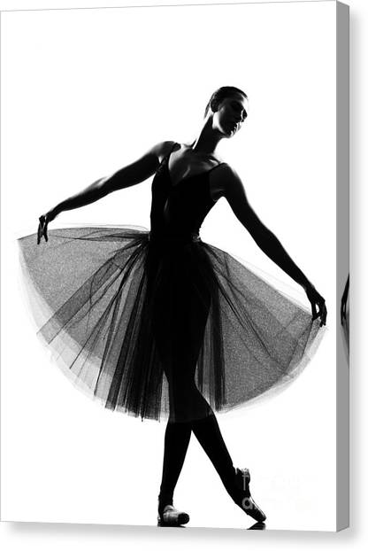 Indoors Canvas Print - Beautiful Caucasian Tall Woman Ballet by Ostill Is Franck Camhi