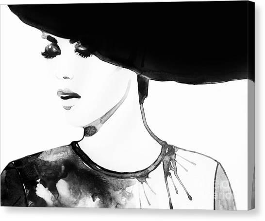 Sensual Canvas Print - Beautiful Face. Woman Portrait With by Anna Ismagilova