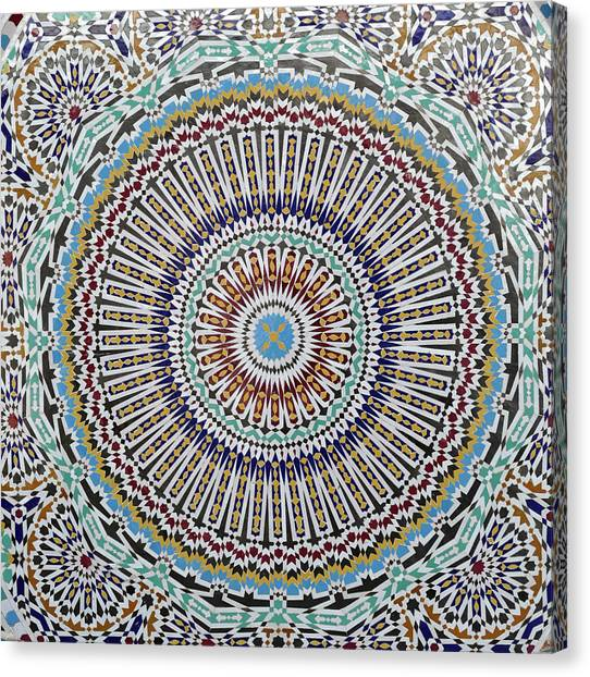 Beautiful Infinity Desgn Mosaic Fountain Canvas Print