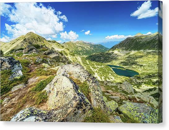Beautiful Landscape Of Pirin Mountain Canvas Print