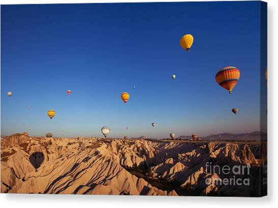 Stunning Canvas Print - Beautiful Landscape With Hot Air by Song about summer