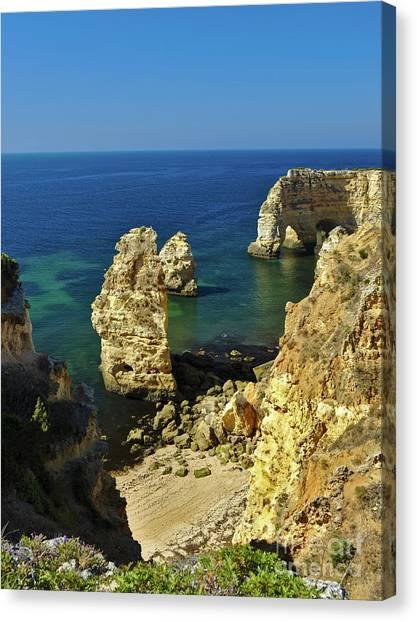 Beautiful Marinha Beach From The Cliffs Canvas Print