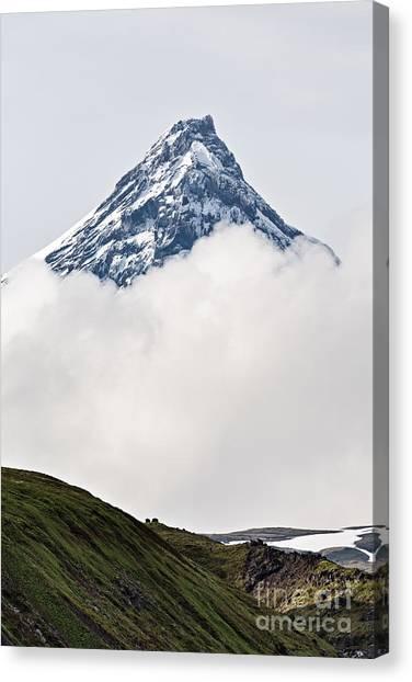Mountain Climbing Canvas Print - Beautiful Mountain Landscape Of by Alexander Piragis
