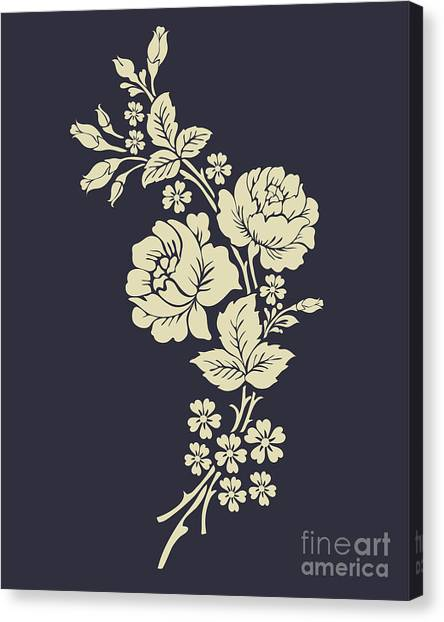 Nature Canvas Print - Beautiful Rose Flowers On The Dark by Flower Design Sketch Gallery