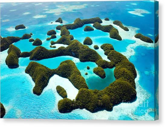 Stunning Canvas Print - Beautiful View Of 70 Islands In Palau by Blueorange Studio