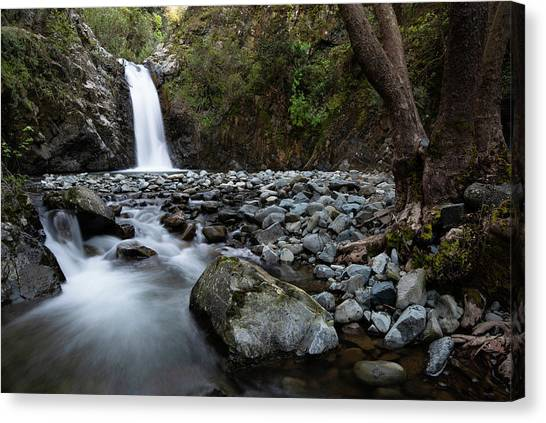 Beautiful Waterfal, Troodos Mountains, Cyprus Canvas Print