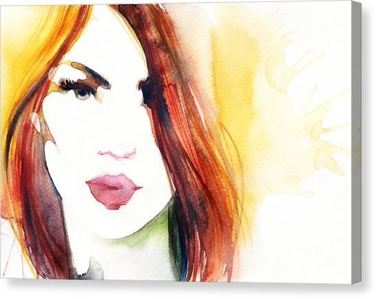 Sensual Canvas Print - Beautiful Woman Face. Abstract Fashion by Anna Ismagilova