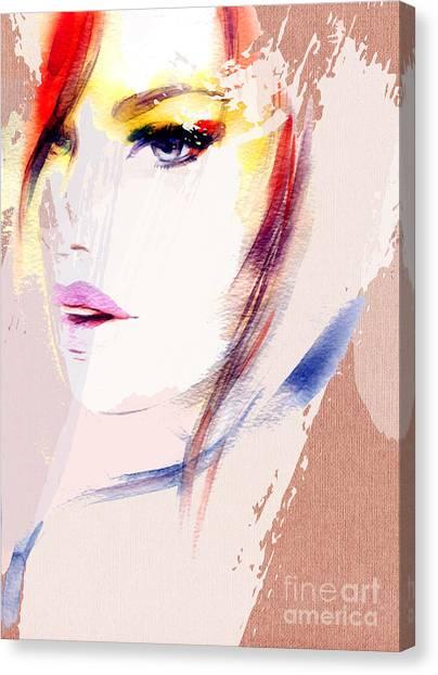 Sensual Canvas Print - Beautiful Woman Portrait. Abstract by Anna Ismagilova