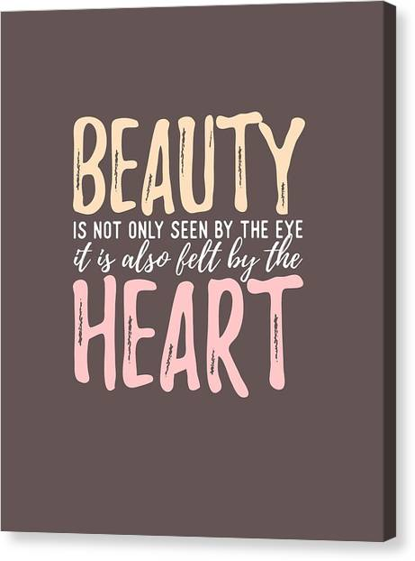 Beauty Heart Canvas Print