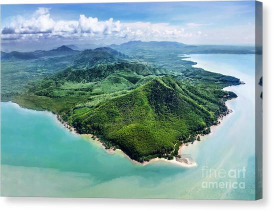Yacht Canvas Print - Beauty Islands, View From The Plane by Saiko3p
