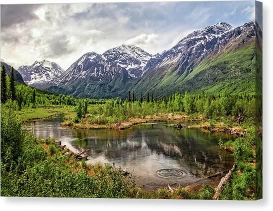 Beaver Pond, Eagle River Ak Canvas Print