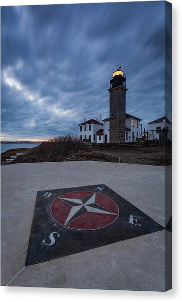 Beavertail Lighthouse Canvas Print