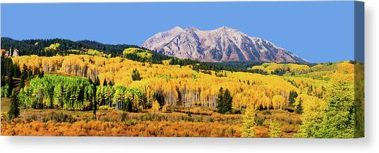 Beckwith Mountain Colors Canvas Print