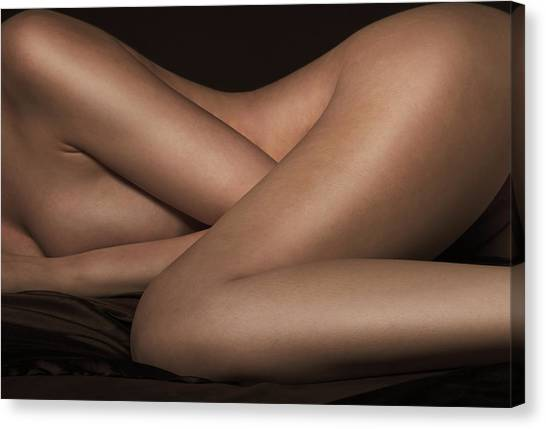 Abstract Nude Canvas Print - Bed Sheets by Naman Imagery