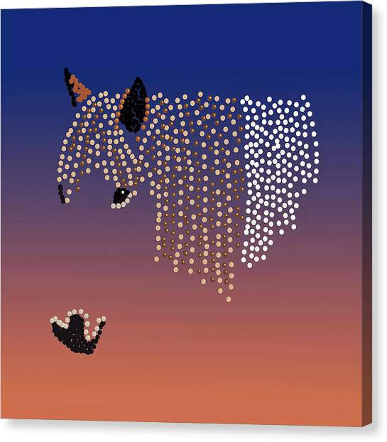 Bedazzled Horse's Mane Canvas Print
