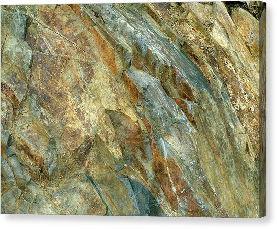 Canvas Print featuring the photograph Bedrock Of Ages 5 by Lynda Lehmann