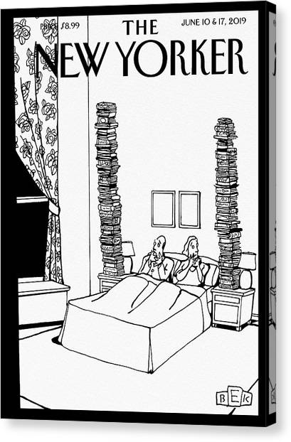 Couple Canvas Print - Bedtime Stories by Bruce Eric Kaplan