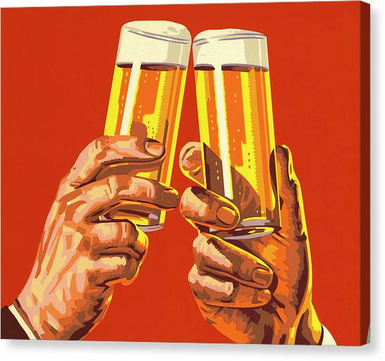 Beer Toast Canvas Print
