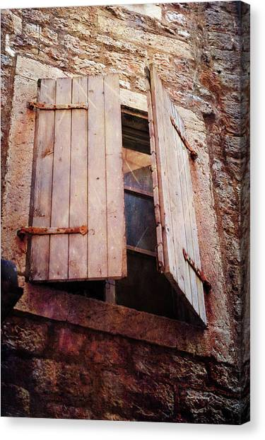 Canvas Print featuring the photograph Behind Shutters by Randi Grace Nilsberg