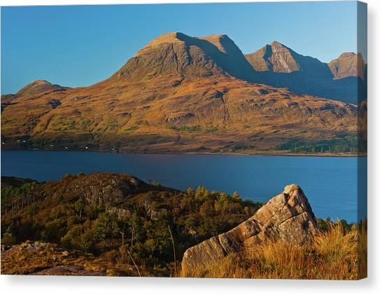 Beinn Alligin And Loch Torridon Canvas Print by David Ross