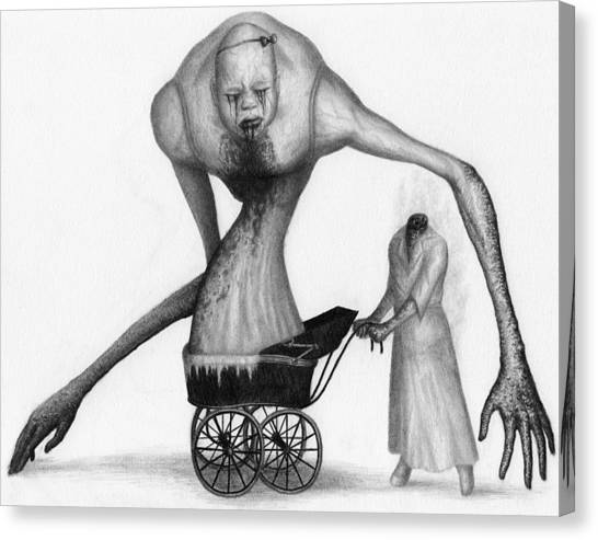 Bella The Nightmare Carriage Updated - Artwork Canvas Print