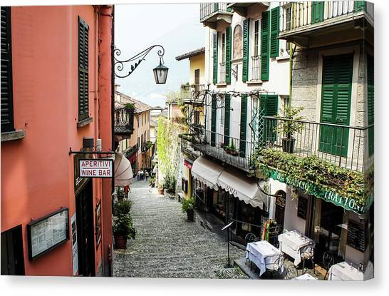 Canvas Print featuring the photograph Bellagio Steet, Italy by Dawn Richards