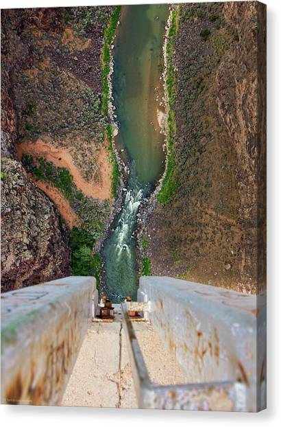 Below The Bridge Canvas Print