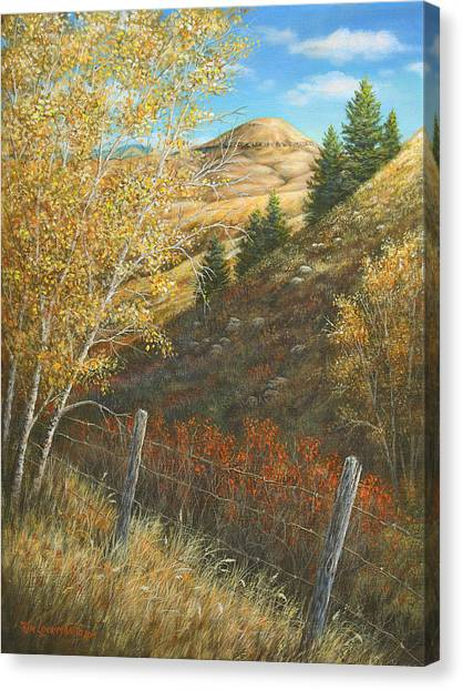 Belt Butte Autumn Canvas Print