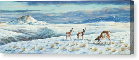 Belt Butte Winter Canvas Print