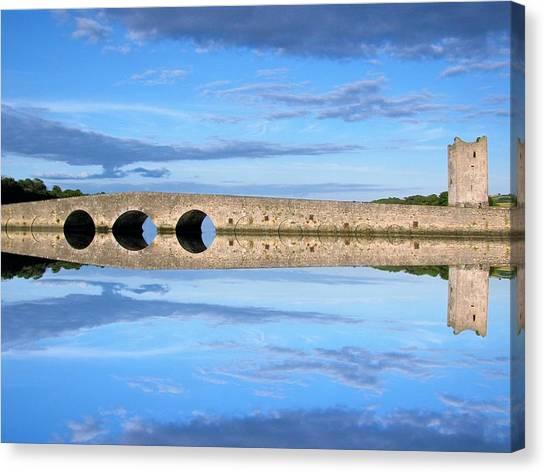 Belvelly Castle Reflection Canvas Print
