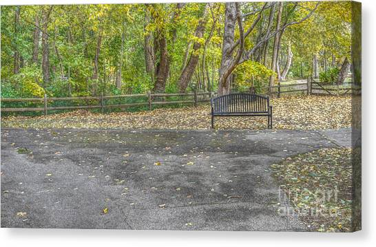 Bench @ Sharon Woods Canvas Print