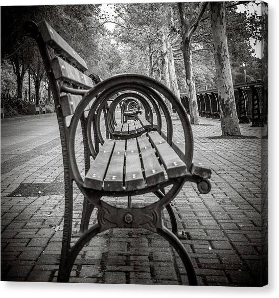 Bench Circles Canvas Print