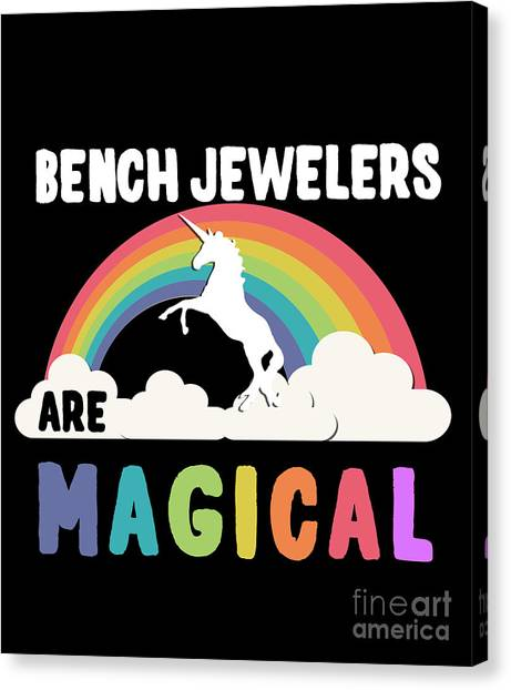 Canvas Print featuring the digital art Bench Jewelers Are Magical by Flippin Sweet Gear