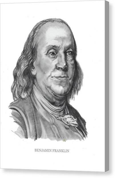 Benjamin Frankline  Canvas Print