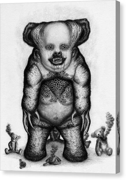 Benjamin The Nightmare Bear - Artwork Canvas Print
