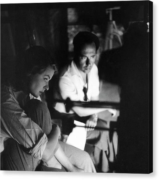 Bergman & Rossellini In Italy For Canvas Print by Gordon Parks