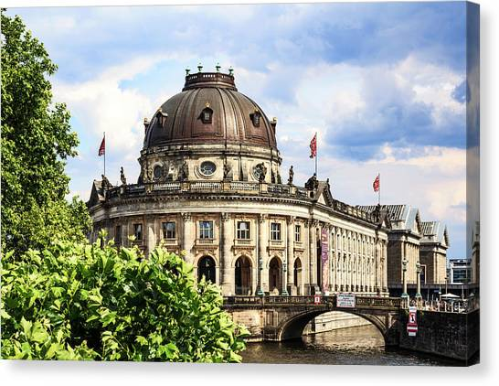 Tv Tower Canvas Print - Berlin, Germany Bode Museum by Miva Stock