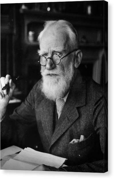 Bernard Shaw Canvas Print by Hulton Archive
