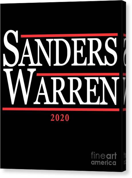 Elizabeth Warren Canvas Print - Bernie Sander Elizabeth Warren 2020 by Flippin Sweet Gear