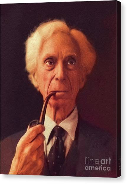 Philosopher Canvas Print - Bertrand Russell, Philosopher by John Springfield