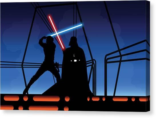 Obi-wan Kenobi Canvas Print - Bespin Duel by Nathan Shegrud