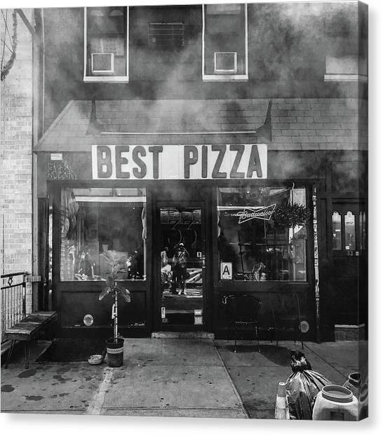 Best Pizza Canvas Print