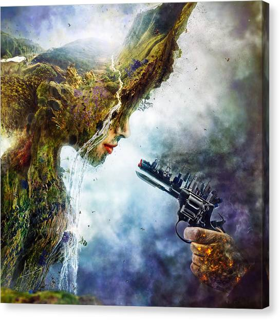 Surrealism Canvas Print - Betrayal by Mario Sanchez Nevado