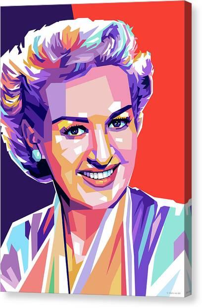 Betty Grable Pop Art Canvas Print