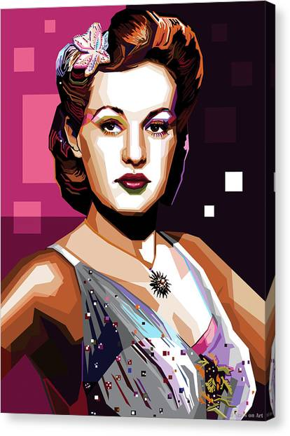 Betty Grable Canvas Print