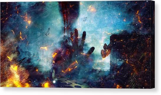 Apocalypse Canvas Print - Between Life And Death by Mario Sanchez Nevado